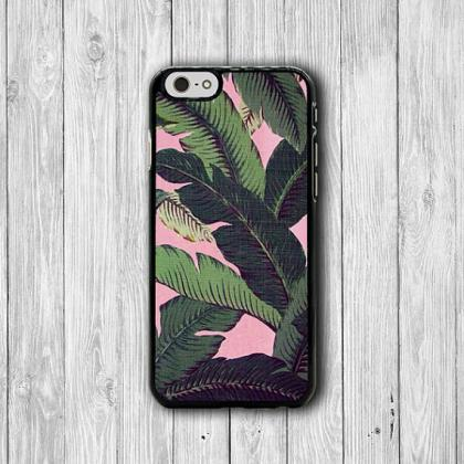 iPhone 6 Case - PINK Weave Palm Lea..
