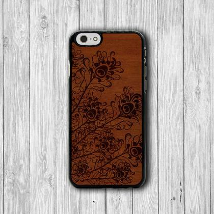 Animal PEACOCK WOODEN iPhone Cases,..