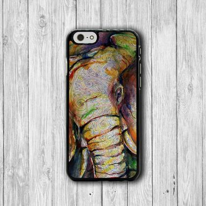 Elephant Abstract Drawing iPhone Ca..