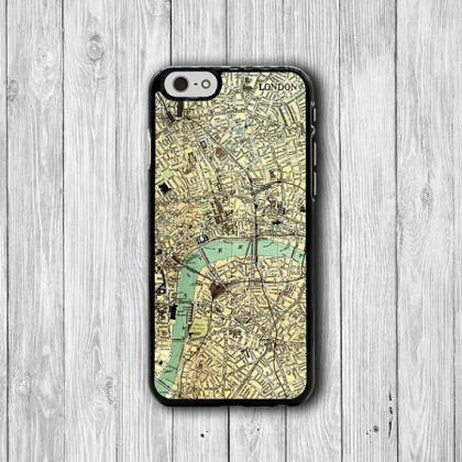 Vintage 60s LONDON MAP iPhone 6 Cov..