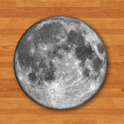Round Mouse Pad Moon Dark Side Hips..