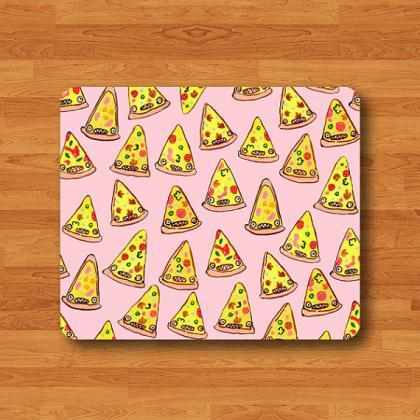 Cartoon Funny PINK PIZZA Mouse Pad ..