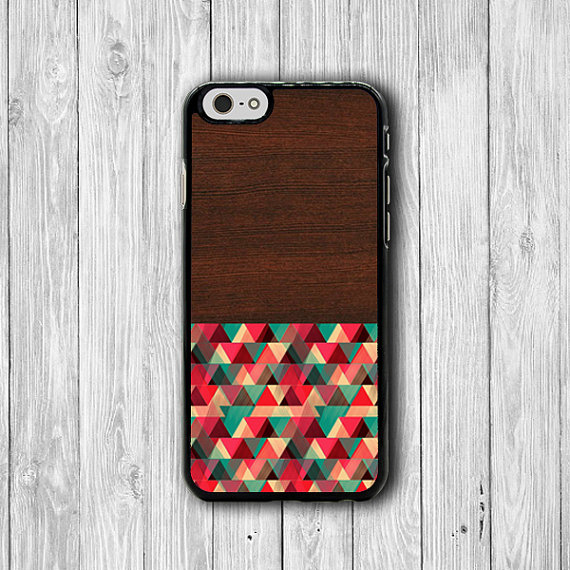 Color Geometric Design Dark Wooden Iphone 6 Case Artist Iphone 6