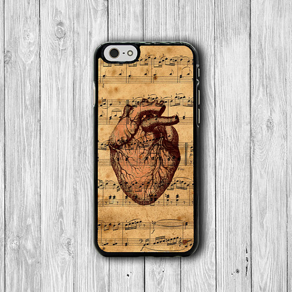 Vintages Music Art Body Heart Love Human Anatomy IPhone 6 Cover ...