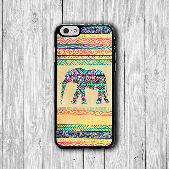 Aztec Elephant Color Drawing iPhone 6 Cases, Big Wild Animal iPhone 6 Plus, iPhone 5S Cover, iPhone 4 Boss Gift Accessories Pocket Deco Gift #33