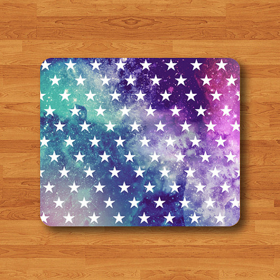 Galaxy Nebula STAR HIPSTER Mouse PAD Trendy Colorful Pastel Girly MousePad Modern Art Work Computer Accessory Custom Personal Space Color#2-18