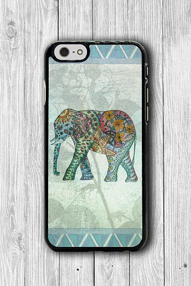 Color Drawing Mint Elephant AZTEC iPhone 6 Cases, 6 Plus, iPhone 5S, iPhone 5 Case, iPhone 5C Case, iPhone 4S Case, iPhone 4 Floral Printed