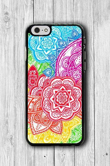 Colorful Drawing Bali FLOWER ART iPhone Case, iPhone 6 Case, iPhone 6 Plus, iPhone 5 / 5S, iPhone 4 / 4S, Floral Artist Phone Cover Personal