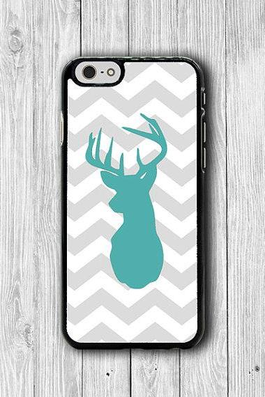iPhone 6 Case - Grey Geometric Mint Deer iPhone 6 Plus, Animal Printed Art Shadow Phone 5S, iPhone 5 Case, iPhone 5C Case, iPhone 4S Hipster #24