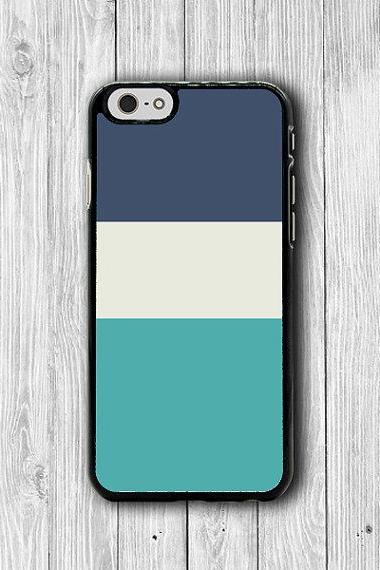 Minimal Blue Tri Color Pentone Art iPhone 6 Cases, Indigo Blue iPhone 6 Plus Print iPhone 5S iPhone 5 Case, iPhone 5C Case, iPhone 4S Case #36