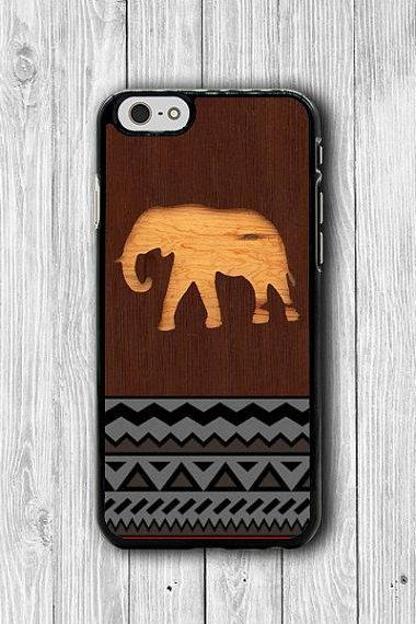 Wood Elephant Aztec Pattern iPhone 6 Cases, Geometric iPhone 6 Plus Print iPhone 5S iPhone 5 Case, iPhone 5C Case, iPhone 4S Case, iPhone 4 #41