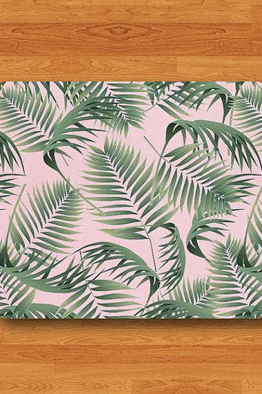 Pink BG Palm Leaf Sweet Mouse Pad Gift For HER COMPUTER MousePad Office Desk Decor Accessories Gift for Coworker Office Best Friend Gift#2-7