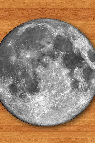 Round Mouse Pad Moon Dark Side Hipster MousePad Natural Desk Deco Vintage Office Computer Pad Personalized Gift For HER HIM Electronics Pads#2-15