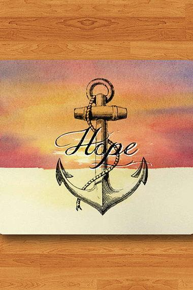 Quote HOPE And ANCHOR Art Sky Mouse Pad Drawing Navy Ship Signal Printed MousePad Desk Deco Work Pad Mat Rectangle Personal Office Gift Men#2-16