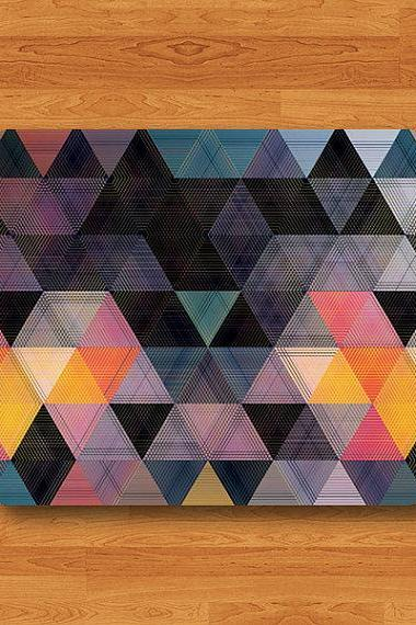 Geometric Triangle Colorful Art Mouse Pad Desk Pad Fabric Seamless MousePad Personalized Rectangle Pad Matte New Year Gift Her Computer Pad#2-28