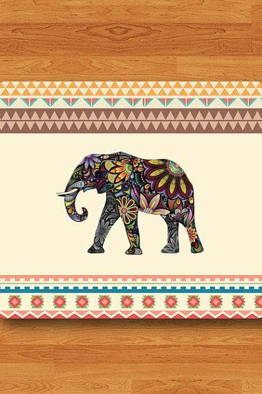 Flower Elephant Aztec Geometric Big Wild Animal Mouse Pad Color Floral Desk Deco MousePad Work Pad Mat Rectangle Personal New Computer Gift#2-40
