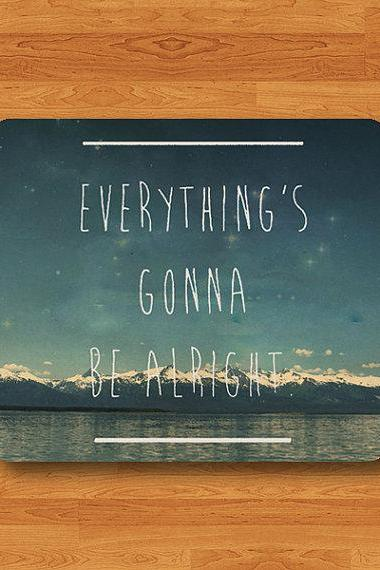 Motivational and Inspirational Quotes Everything Gonna Be Alright Mouse Pad Drawing Text MousePad Office Desk Deco Rubber Accessory For Work#2-53
