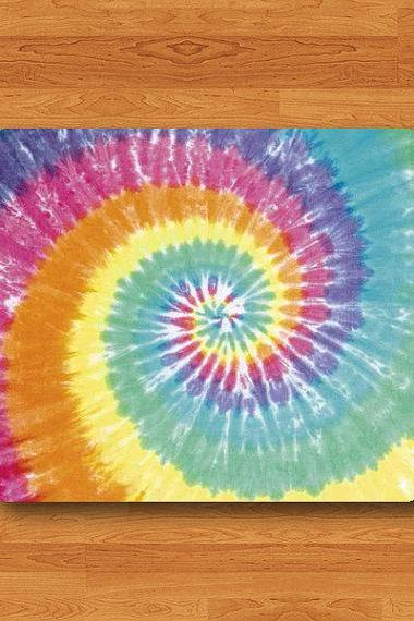 Tie Dye Colorful Batik Fabric Mouse Pad Spiral Rainbow Printed MousePad Art Office Desk Deco Personal Gift Computer Pads Bali Style Gift#2-57
